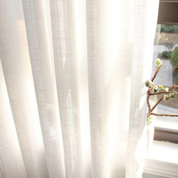 Wholesale white cotton voile for sale - Group buy Japan White Tulle Window Curtains for Living room Cotton Linen Sheer Voile Curtains for Bedrrom Solid Drapes Blind Home Decor