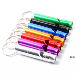 key ring puppy Australia - Wholesale Mini Aluminum Dog Whistles For Training With Keychain Key Ring Outdoor Survival Emergency Exploring Puppy Whistles Dbc Bh3130