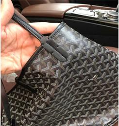 Wholesale french women handbags resale online - Fashion GOY Designer Women Leather Canvas Handbag Large Tote French Style Shopping Bag GM Size Goyaa Shoulder Bags