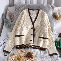 Designers Clothes 2020 Women Winter Cardigan Cashmere Blend Fashion print Sweaters 3 Colors High Stretch Streetwear Sweater