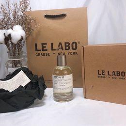 Wholesale Air Freshener Perfume Le Labo Eau De Parfum With Bag Christmas gift Santal 33 100ML   3.4OZ
