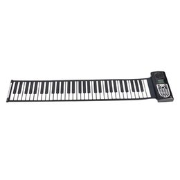 beginners electronics UK - Standard 61 Keys Portable Roll Up Piano Electronic Keyboard for Kids Adults Beginners