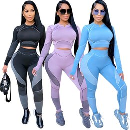 Discount nice yoga pants New Arrival Women's Two Piece Pants Lady and Girl's Yoga Leisure Style Two Piece Sets Nice T-shirt and Pencil