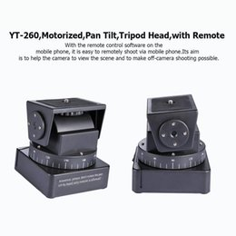 Wholesale photography professionals resale online - Yt Motorized Pan Tilt Tripod Head Ptz Remote Control Shooting Camera Portable Professional Photography Tool For Mobile Phone wmtZlT