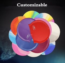 Wholesale Free Delivery2020 New Adult Swimming Cap Silicone Swimming Cap Waterproof and Thickened Customized LOGO Silicone Cap 50G Wholesale in Stock