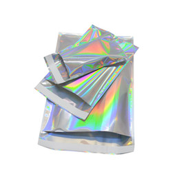 Wholesale Laser Mailers Bags Rainbow Self Smell Proof Packages Envelope For Cell Phone Case Accessories Christmas Gift Express Storage Bubble Packing