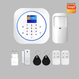 security system panels Australia - 2020 NEW Touch Panel wireless GSM Alarm system 2.4G WIFI tuya smart life APP Home security defense 433mhz door sensor PIR motion1