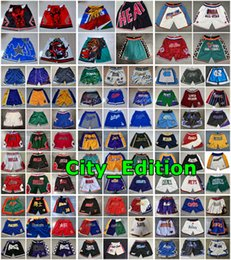 Wholesale men just shorts for sale – plus size 2020 Authentic Stitched Mens Just Don Pocket Shorts Edition Men All City Teams Name Year Id Tags Mitchell Ness Pocket Basketball Shorts