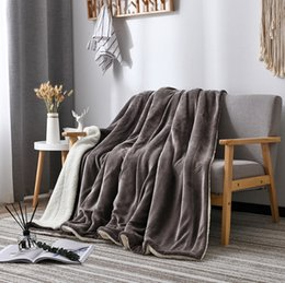 Cashmere Woolen Blankets Double Thickened Blanket Autumn Winter Fannel Home Office Warm Nap Sofa Blanket LLA73 on Sale