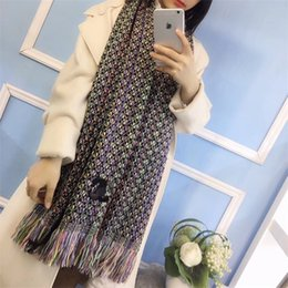 Discount scarf trends 2021 Autumn winter brand designer's new checked pattern -100% cashmere jacquard scarf, fashion trend versatile, men
