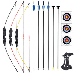toy tool sets for kids Australia - Free shipping Children Bow Set Draw Weight 15-18 Lbs 41 inch for Beginner Training Shooting Kids Toy Games Archery Shooting Tool 201111