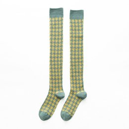 over knit sock UK - 2020 new women's socks Japanese college style fashion stockings fashion casual sports over the knee stockings Autumn winter5