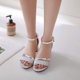 high heels size 14 2021 - Plus Size 9 10 11 12 13 14 15 16 17 18 19 high heels sandals women shoes woman summer ladies Open-toed buckled sandals