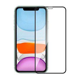 Wholesale screen glass protector resale online - For iPhone Pro Max Full Glue Tempered Glass D H Full Screen Cover Explosion proof Screen Protector Film for iPhone XR SE XS Max Mini