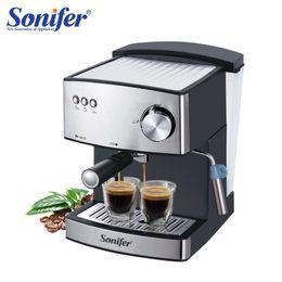 Großhandel 1.6l Electric Espresso-Kaffeemaschine Kaffeemühle 15 bar Express Elektrische Schaumhersteller Küchengeräte 220V-Sonifer