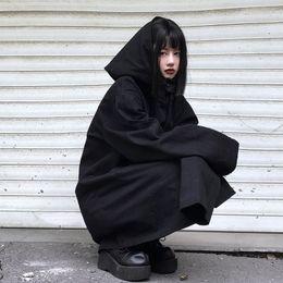 Wholesale sections sweatshirt hoodies online – oversize Women s Fashion Gothic Punk Hoodie Women s Jacket Jacket Long Sweatshirt Long Section