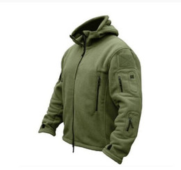 Wholesale Men US Military Winter Thermal Fleece Tactical Jacket Outdoors Sports Hooded Coat Military Softshell Hiking Outdoor Army Jackets