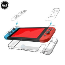 Game Controllers & Joysticks Crystal Protector For Switch Controller Case Cover Gamepad Back Bag NintendoSwitch NX NS Transparent Hard on Sale
