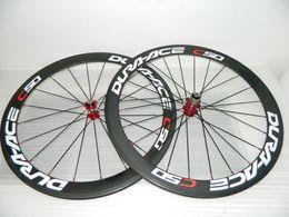 Vendas Dura Ace C50 rodas da bicicleta de carbono de 50mm de carbono completo rodados rodado carbono borda em Promoção
