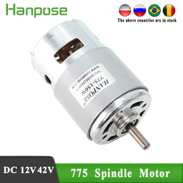 Wholesale motors resale online - Durable Spindle motor RPM Brush dc motor W lawn mower motor with two ball bearing Rated