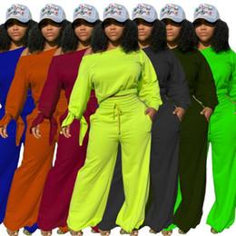 Wholesale women velvet sweatsuit resale online – 22TY1872 Autumn Winter Women Outdoor Casual Solid Cuff Bandage Oblique Shoulder Velvet Two Piece Set Tracksuit Sweatsuit Outfits