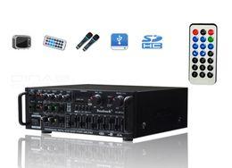 Wholesale Bluetooth EQ Amplifier 220V Equalizer High Powers 12V Square Dance FM Car Outdoor Power Dual-Use Amplifiers AV-326BT