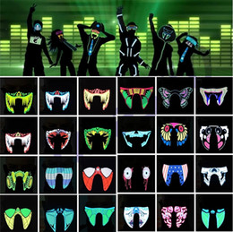 half face light up mask Australia - New Waterproof LED Luminous Flashing Cool Face Mask Party Masks Light Up Dance Halloween masks Costume Decoration Cosplay Party 29 M2