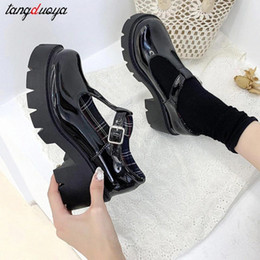 Mary Jane Shoes Buckle Strap platform shoes Women Pumps 2021 Chunky Heels Ladies Round Toe Platform Casual Female Footwear Mujer #6M7B
