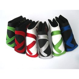 Wholesale For Tour use style Golf Head Covers PU Club Accessories Golf Putter Cover Headcover for Blade Golf Putter Head Covers 201029