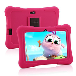 7 inch tablet pc UK - PRITOM 7 inch Kids Tablet PC 1GB RAM 16GB ROM Android 9.0 Quad Core Tablets WiFi Bluetooth Dual Camera with Kids Tablet Case