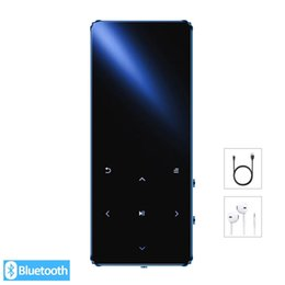 Player with Bluetooth hifi lossless mini music player with fm radio speaker headphones, sport MP 3 metal walkman dap LJ201016 on Sale