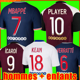 Wholesale uniform green for sale - Group buy MBAPPE ICARDI soccer jersey Maillots de football shirts KEAN VERRATTI men kids kit uniforms enfants maillot foot