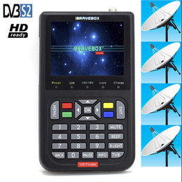 "Discount digital satellite finder meter iBRAVEBOX V8 Finder HD Satellite Finder DVB S2 Digital H.264 Full 1080P FTA 3.5"" LCD Built-in 3000mAh Battery Sat Finder Meter"