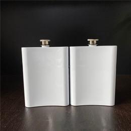 Toptan satış 8oz Blank Sublime Flask Taşınabilir 304 Paslanmaz Çelik Hip Flask Flagon Viski Şarap Alkol Şişesi VT1930