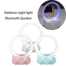 Wholesale Portable Mini USB Music Night Light Speaker 2 IN 1 Chargeable Smart Wireless Rainbow Colorful LED Lamp Bass1