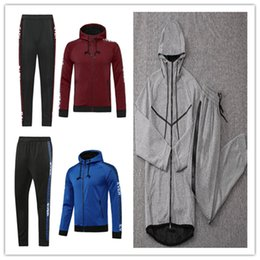 Wholesale hoodies grey resale online - Men hoodie kit survetement autumn winter Large size HOODIE SPORTSWEAR TECH FLEECE WINDRUNNEOR fashion leisure sports jacket running JACKET