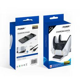 venda por atacado New Dual Charger Dock Mount USB Carregando Stand para PlayStation 5 PS5 Xbox One Gaming Wireless Controller com caixa de transporte rápido