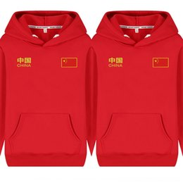 Wholesale pullover sweaters china for sale - Group buy XIJdk Chinese Embroidered sweater Plush Hooded Pullover men s Sweater Pullover style China flag coat national flag long sleeve national fashi