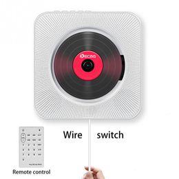 Toptan satış CD Çalar Duvara Monte Bluetooth Taşınabilir Ev Ses Boombox Uzaktan Kumanda FM Radyo Dahili HIFI Hoparlörler USB MP3