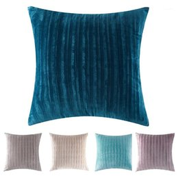 corduroy pillow covers 2021 - Nordic Cushion Covers Super-Soft Striped Velvet Corduroy Home Decorative Pillow Cover for Sofa 45x45cm Decorative Pillow
