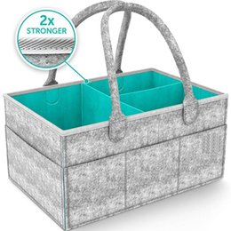 designer diapers for babies Australia - Baby Diaper Caddy Nursery Storage Bin and Car Organizer for Diapers and Baby Wipes