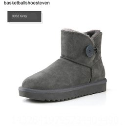Wholesale White nHOl ic Chestnut designer blackboots man women girl snow short boots bowtie anklebow boot winter fashion size 39