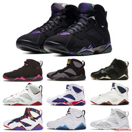 golden wings shoes Australia - Jumpman 7 7s Hare Bordeaux 2011 Hot Lava Golden Moments Olympic Raptors Men Basketball Shoes Wings Cool Grey Chicago Sports Trainers