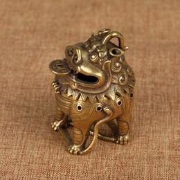 antique Tibetan Vintage incense holder free shipping Tibet Buddha incense burner lions status