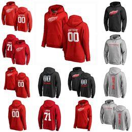 venda por atacado Detroit Red Wings Pullover Hoodie Justin Abdelkader Christoffer Ehn Adam Erne Robby Fabbri Valtteri Filppula Hockey Sweetshirts