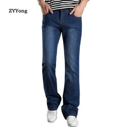 Wholesale mens boot cut pants for sale – denim 2020 New Mens Sping Flared Boot Cut Men Leg Fit Classic Denim Flare Vintage Jeans Male Straight Pants