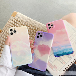 Sky Print Phone Case For iPhone 11 Pro Max SE2020 X XR XS Max 7 8 Plus Luxury Case Soft IMD Full Body Back Cover Case