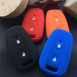 car key skins Australia - ZAD Silicone Rubber Car Key Case Cover Set Skin For TATA Vista Manza Indica CV4490 Car Accessories 2 Buttons Key Protection Fob Cheap Agkc#