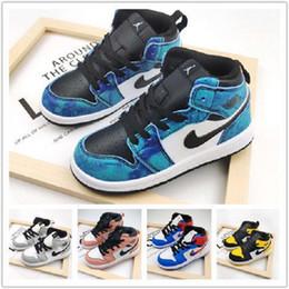 Wholesale kids jordan shoe for sale - Group buy top Quality infants s OG kids toddler High Low basketball girls children shoes Nakeskin Jordan boys air sneakers Trainers j8d
