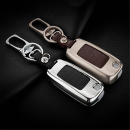 Accessories For VW Golf MK6 Tiguan Passat Scirocco Beetle Polo Fold Key Case Holder Bag Shell Keyfob Box Keyring Keychain 3 Buttons